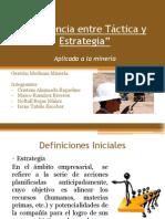 Diferencia entre Táctica y Estrategia