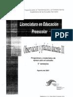 5º_PREE_ OBSERVACION Y PRACTICA DOCENTE III