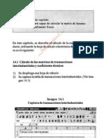 Cálculo de la matriz insumo-producto