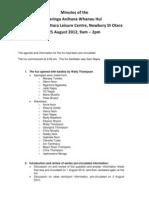 minutes of the taringa anihana hui 25 august 2012