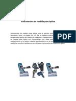 Instrumentos de medida para óptica