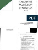 Fundamentals of Marxism Leninism Manual
