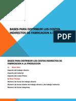 Bases Para Distribuir Los Costos Indirectos de Fabricacion