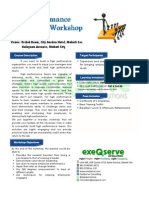 High Performance Leadership Workshop - November 22 and 23, 2012
