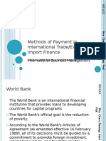5. Methods of Payment in International Trade, Export and Import Finance