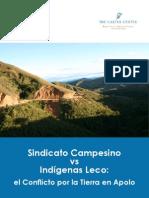 Sindicato Campesino vs Indigenas Leco Lorenza Fontana