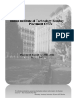 IITB Placement Report 2011-12