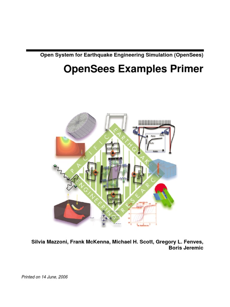 Openseesexamplesprimerpdf Object Computer Science Nonlinear