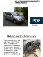 Environmental and social issues concerned with hybrid vehicles
