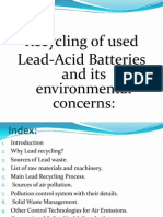 Recycling of used  Lead-Acid Batteries and its environmental concerns