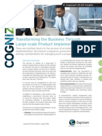 Transforming the Business Through Large-scale Product Implementation