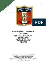 REGLAMENTO FESTTA 2012