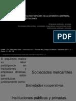 Tema 5 -  EL ARQUITECTO Y SU PARTICIPACIÓN EN LAS DIFERENTES EMPRESAS, SOCIEDADES E INSTITUCIONES