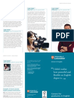 Careers for Graduates in English Leaflet