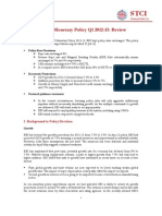 RBI's Monetary Policy Q1 2012-13 - Review