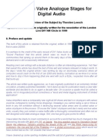 Thermionic Valve Analogue Stages for Digital Audio - A Short Overview of the Subject by Thorsten Loesch