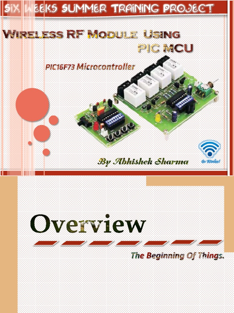 Wireless RF Module Using PIC MCU (Slides)  | Wireless | Radio