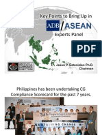 Key Points for ASEAN Experts Panel