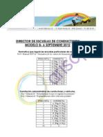 Corrector examen MODELO B - Director de escuelas particulares de conductores