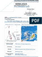 NDRRMC Update Re SWB No. 1 for Tropical Depression Karen