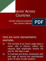 Behavior Across Countries