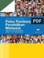Pelan Pembangunan Pendidikan Malaysia 2013-2025 - Ringkasan Eksekutif - Bahasa Malaysia