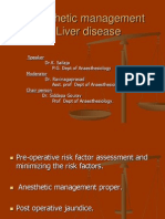 Anaestetic Management of Liver Disease
