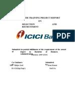 Selection Recruitment -Icici