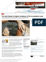 The Flu Shot Caused Flu Pandemic and Created More Flu in Canada