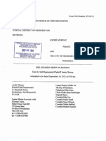 September 6, 2012, Brief filed by Andre Murray (Plaintiff), to be used for a Motion for security of Costs scheduled September 10, 2012. Court file FC-45-11