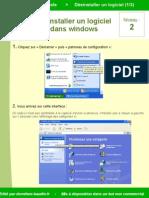 désinstaller un porgramme / logiciel sous windows