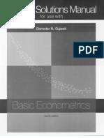 Basic Econometrics Solutions Manual