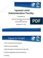 District 97 and Park District of Oak Park joint facility presentation