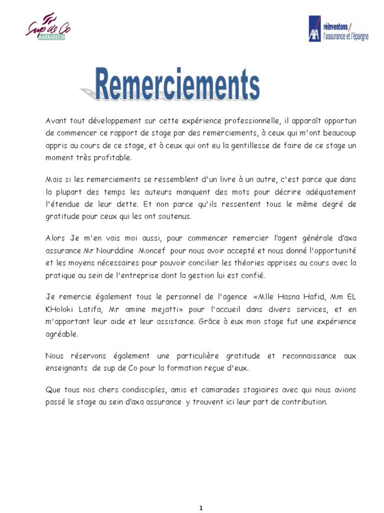 rapport de stage saham assurance