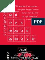 2012 Utah Science Olympiad T-Shirt