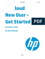 HP Cloud New User - Get Started Guide by Chris Anderson - 3sept2012