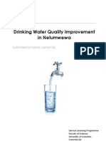 Drinking Water Quality Improvement in Nelumwewa