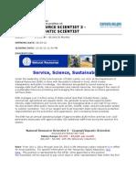 DNR Nat Resource Scientist 3