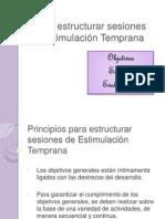 Como estructurar sesiones de Estimulación Temprana