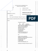 State of Ohio vs Thomas M. Lane III, Defendant's Reply Brief