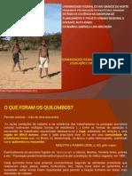 Comunidades remanascentes de quilombolas