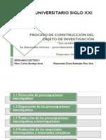 PROCESO DE CONSTRUCCIÓN DEL OBJETO DE INVESTIGACIÓN