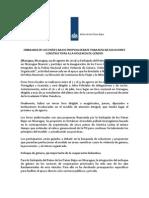 Comunicado de Prensa - Foro Audiovisual Local Con PNN - 09 de Agosto 2012