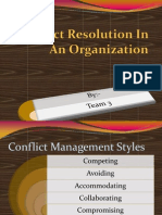 Conflict Resolution in an Organization