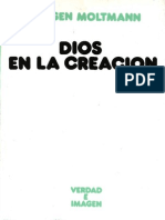 Moltmann, Jurgen - Dios en La Creacion