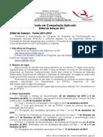 EditaldeSelecao_PPGCA_2011_v1