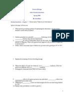 Unit 4 Genetics) Review Questions