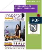 Brief Congreso Internacional de Secretarias Imbabura - Sierra