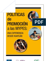 Políticas de Promoción a las MYPES