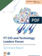 Ft Hp Cio Event Summary Report (a4) Final Version